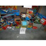 A mixed lot of vintage toys including Matchbox, marbles, Star Wars, Lego etc.