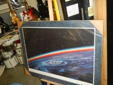 A large limited edition framed print 260/500.