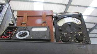 An AVO Model 8 and Avominor in good visual condition with leads, untested.