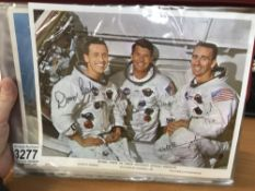 A large quantity of Apollo astronaut photo's, some signed but not authenticated.