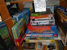 Twelve jigsaw puzzles (one shelf).