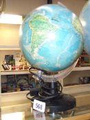An Italian illuminated globe.