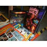 A shelf of assorted annuals including Thunderbirds, TV 21, Fireball, Scorcher etc.
