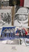 A large quantity of signed Russian cosmonaut photographs.