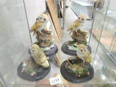 4 Valentino collection barn owls.
