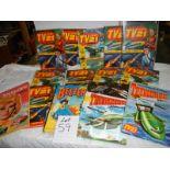A quantity of annuals including TV 21, Beezer, Thunderbirds etc.