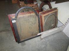 A quantity of Grandfather clock hood fronts.