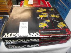Meccanno set 4A & 5, both have many pieces but are unchecked,