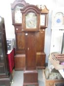 A small mahogany Grandfather clock. ****Condition report**** Face dial size; 31.