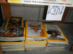 A large quantity of National Geographic,