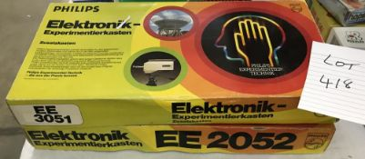 2 Philips electronic experimental sets EE3051 & EE2052 (both sealed)