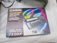A vintage Casio FZ - 880P, 32kb - 64kb memory, boxed as new, working condition unknown, untested.