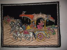 A sequined Indian wall hanging