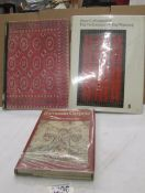 3 books entitles 'European Carpets'. 'Rugs & Carpets of the Orient' and 'Techniques of Rug Weaving'.