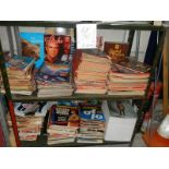 2 shelves of magazines including Time, Newsweek, Starburst, Flicks. Book of Life etc.