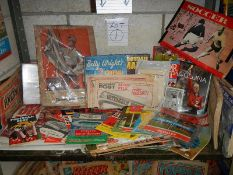 A good interesting lot of football memorabilia including World Cup, England v Poland,