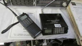 A Yupiteru MVT8000 multi band scanner and a Yupiteru multi band receiver, both working.