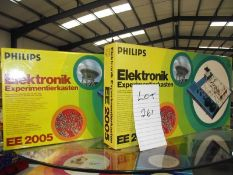 2 Philips (German) electronic sets EE2005, both sealed inside, being sold as seen,