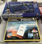 A University of Cambridge digital recording studio and a sealed National Geographic earthquakes and
