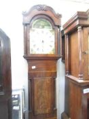 A Grandfather clock marked Tho. Yeates, Penrith.