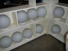 10 Industrial globe lamp shades.