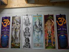 6 various Indian prints.