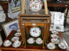 A Wood & Son fruit set and a similar pattern tea set.