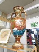 A large Greek style ceramic vase.