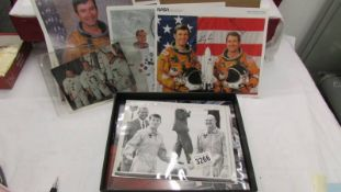 A large quantity of Apollo astronaut photo's some signed but not authenticated.
