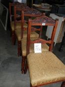 A set of 4 Edwardian chairs.