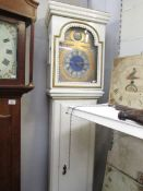 A painted Grandfather clock.