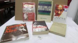 6 books on Mahatma Gandhi.