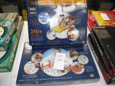 A Merit physics science kit and forensic science kit, both factory sealed, sold as seen,
