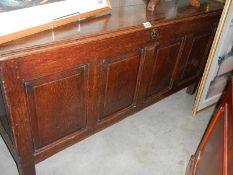 A period oak linen box.