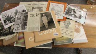 Gandhi film script release book, invitation, LP film track, photo's etc.