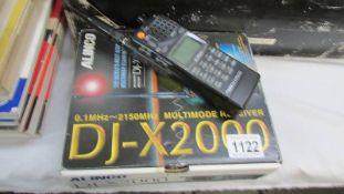 An Alinco DJ-X2000E multi band receiver, new/boxed.