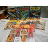 A quantity of annuals including Stingray, TV Comic, Joe 90 etc.