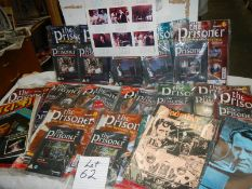 A large quantity of book etc., Mainly 'The Prisoner'.