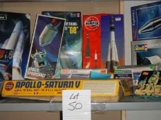 A good lot of Airfix and Revell space craft model kits.
