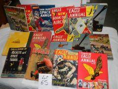 A quantity of Eagle annuals etc.