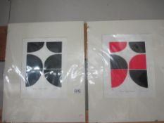 After Terry Frost (1915-2003) One printer's proof and one artist's proof linocut prints abstract