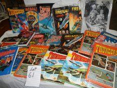 A large quantity of annuals including Fireball, Thunderbirds, Captain Scarlett etc.