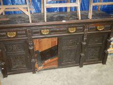 An old oak dresser base.