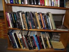 A large selection of books on space and astronomy (2 shelves)