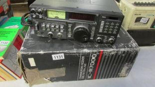 An ICOM communications receiver, IC-R7000, powers up, All LED's ok, scans through channels,