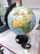 An illuminating globe.