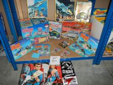 A selection of Matchbox Stingray figures, play sets etc.