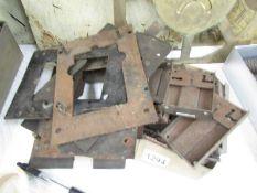 A quantity of locks and lock plates.