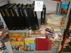 Two shelves of assorted magazine including Tell Me Why, Engineering etc.
