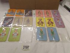A collection of XLS cards with some duplicates.